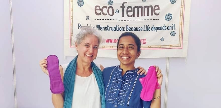 A women-led social startup, Eco Femme, provides free and reusable sanitary pads to women of economically weaker sections