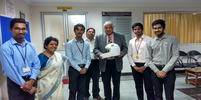 Hyderabad engineering students innovated AC helmets for Industry workers to beat the summer heat