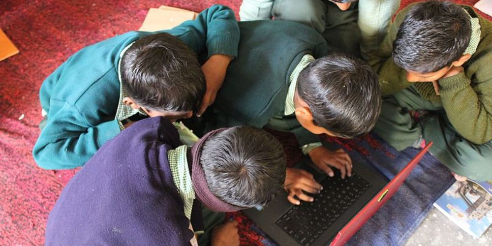 Two Brothers are providing free Wi-Fi and smart devices to students for online classes in a village in Karnataka