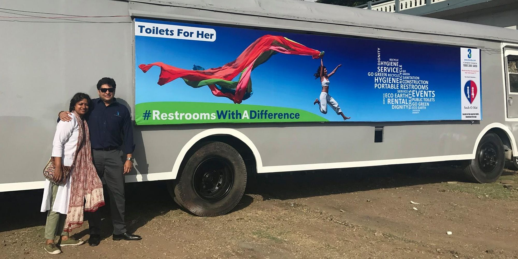 How two Pune based entrepreneurs turned old buses into fully functioning bus toilets for women