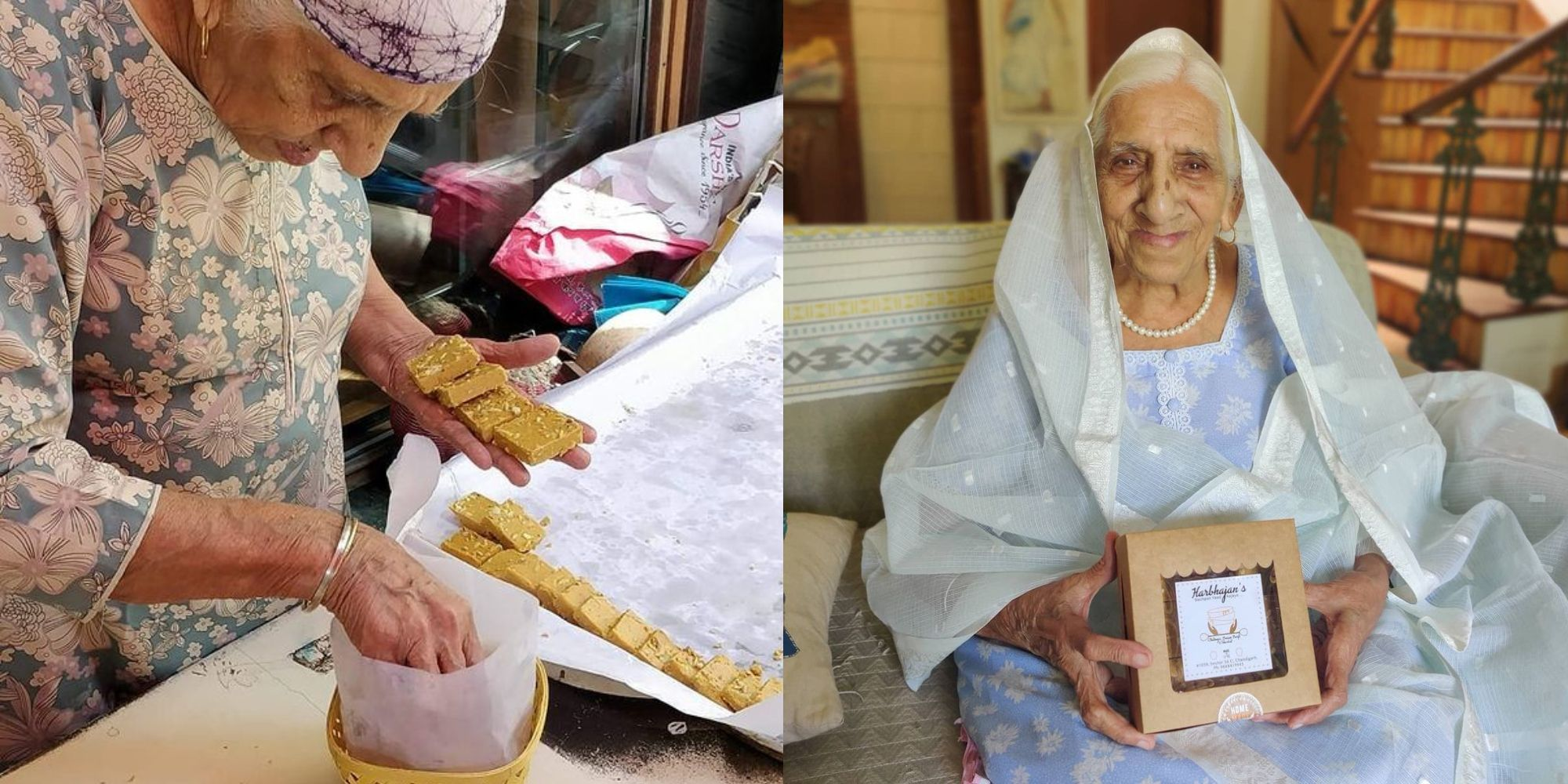 """""""Age is just a number""""- An inspiring story of 94 YO Harbhajan Kaur in Chandigarh who launched her startup at 90"""